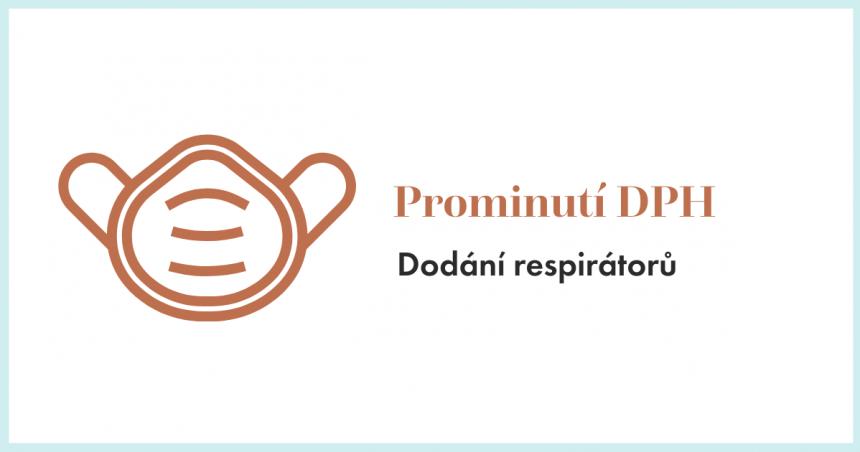 Prominutí DPH na dodání respirátorů